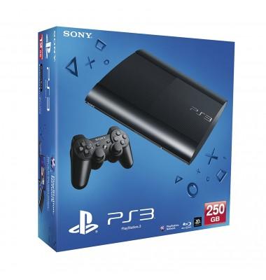 PlayStation 3 Super Slim 250Gb (б/у) + игры