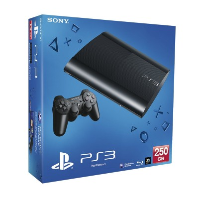 PlayStation 3 Super Slim 250Gb (б/у) + игры