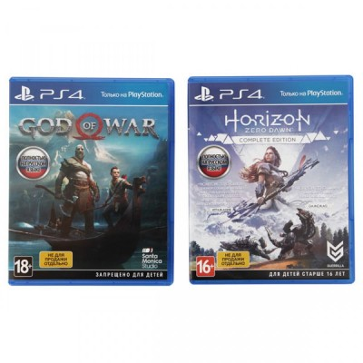 PlayStation 4 Pro 1Tb (CUH-7208B) + God of War, Horizon Zero Dawn