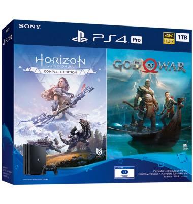 PlayStation 4 Pro 1Tb (CUH-7208B) + God of War, Horizon Zero Dawn