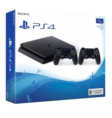 PlayStation 4 Slim 1Tb + 2-й геймпад + подписка Okko фильмы 60 дней